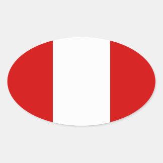 The Flag of Peru Oval Sticker