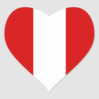 The Flag of Peru Heart Stickers
