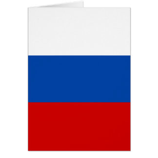 The Flag of Russia Card