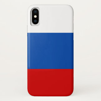 The flag of Russia iPhone X Case