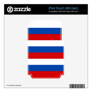 The flag of Russia iPod Touch 4G Decal
