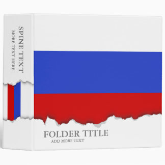 The Flag of Russian 3 Ring Binder