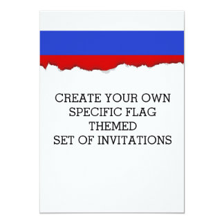The Flag of Russian Card