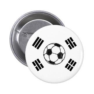The Flag of South Korea | Soccer Sketch Button