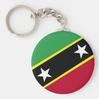 The Flag of St Kitts & Nevis Basic Round Button Keychain