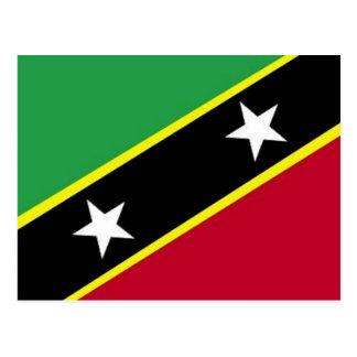 The Flag of St Kitts & Nevis Postcard