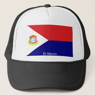The Flag of St Martin Trucker Hat