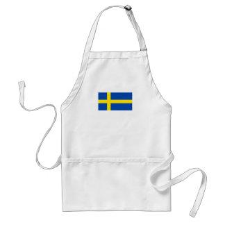The Flag of Sweden Adult Apron