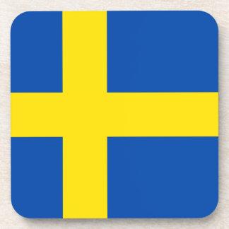 The Flag of Sweden Drink Coaster