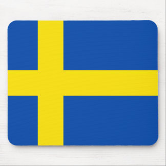 The Flag of Sweden Mouse Pad
