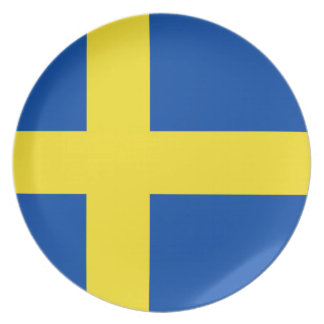 The Flag of Sweden Plate