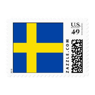 The Flag of Sweden Postage Stamps