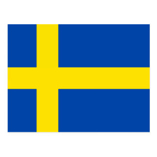 The Flag of Sweden Postcard