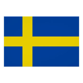 The Flag of Sweden Posters