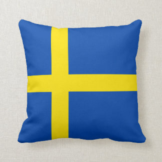 The Flag of Sweden Throw Pillow