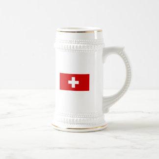The Flag of Switzerland Beer Stein