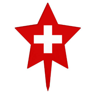 The Flag of Switzerland Cake Pick