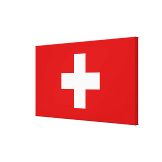 The Flag of Switzerland Gallery Wrapped Canvas