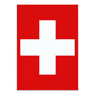 The Flag of Switzerland Card