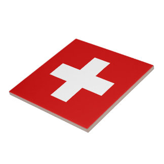 The Flag of Switzerland Ceramic Tile