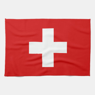 The Flag of Switzerland Hand Towels