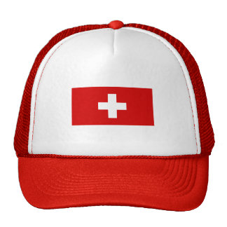 The flag of Switzerland Hats