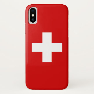 The Flag of Switzerland iPhone X Case