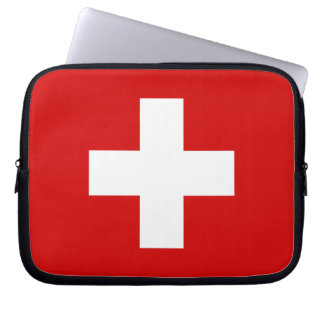The Flag of Switzerland Laptop Computer Sleeves