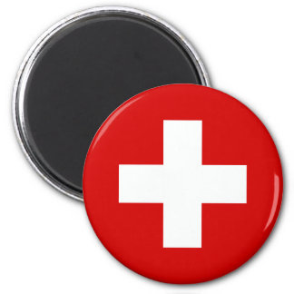 The Flag of Switzerland Refrigerator Magnet