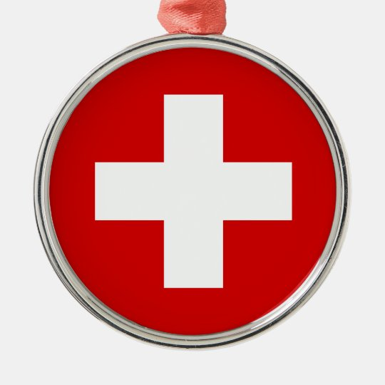 The Flag of Switzerland Metal Ornament