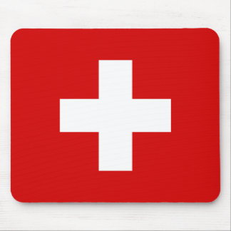 The Flag of Switzerland Mouse Pad