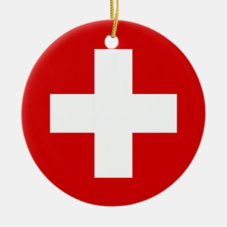 The Flag of Switzerland Ornaments