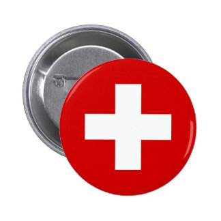 The Flag of Switzerland Pinback Button