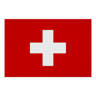 The Flag of Switzerland Print