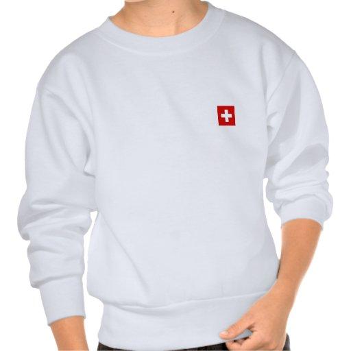 The Flag of Switzerland Pull Over Sweatshirt