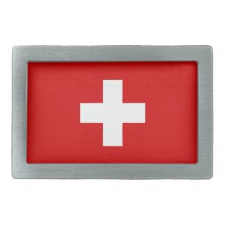 The flag of Switzerland Rectangular Belt Buckle