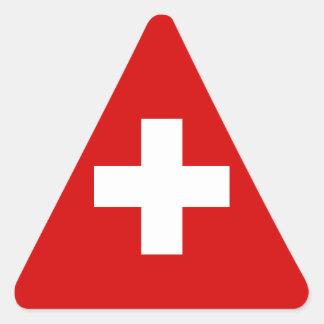 The Flag of Switzerland Triangle Sticker