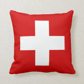 The Flag of Switzerland Throw Pillow