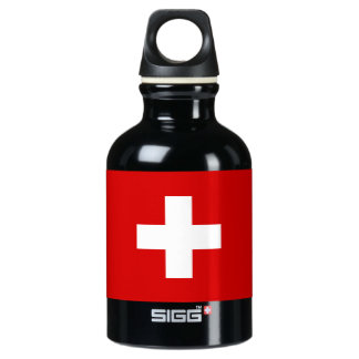The Flag of Switzerland Water Bottle