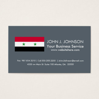 The Flag of Syria Business Card
