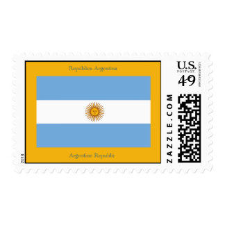 The flag of the Argentine Republic. Stamp