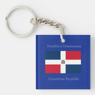 The flag of the Dominican Republic Keychain