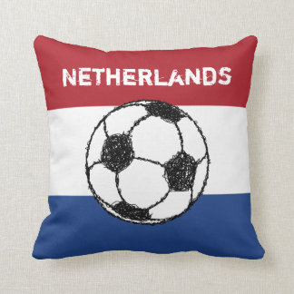 The flag of the Netherlands | Football Throw Pillow