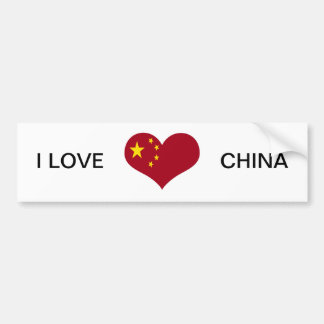 The flag of the People's Republic of China Bumper Sticker