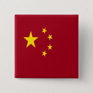 The flag of the People's Republic of China Button