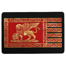 The Flag of the Republic of Venice Floor Mat
