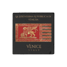 The Flag Of The Republic Of Venice, Italy (VE) Stone Magnet