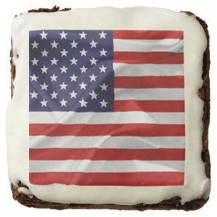 The Flag of the United States of America Chocolate Brownie