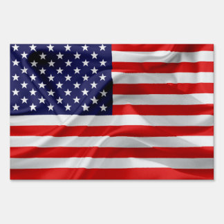 The Flag of the United States of America Lawn Sign