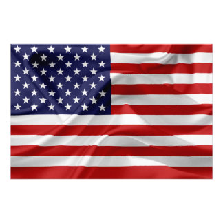 The Flag of the United States of America Photo Print